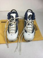 Nike Air Jordan 6 Rings White/French Blue-Flint Grey-Blue 323419-141 GS SZ 4Y