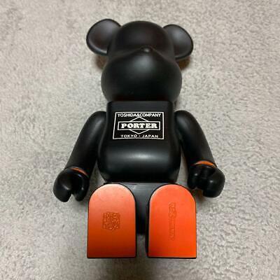 Medicom Toy x PORTER BE@RBRICK 400/% Black Bearbrick from Japan NEW