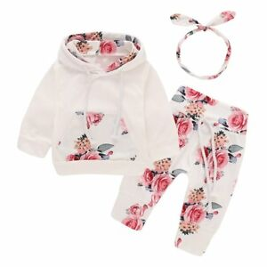 3PCS-Newborn-Toddler-Baby-Girl-Clothes-Hooded-Sweater-Pants-Headband-Outfits-Set