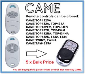 5 x est arrivé TOP432- TOP434 AA- NA- ma Télécommande Duplicator 433.92 MHz-afficher le titre d`origine UC5Kx1ze-07141248-104389771