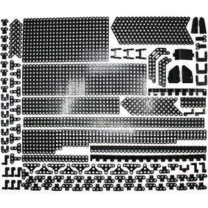 Lego-Technic-Black-Studless-Beams-Liftarms-Panels-Thins-Bricks-429-Parts-NEW