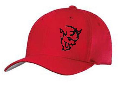 Demon hat cap fitted flexfit curved bill mopar hemi Dodge