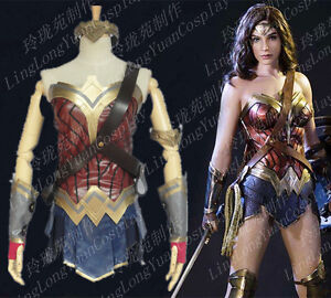dc7fc9d147e2 Batman v Superman Wonder Woman Diana Prince Cosplay Costume Adult ...