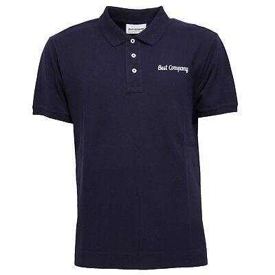 5194X polo uomo BEST COMPANY DESIGNER OLMES CARRETTI blue shirt man