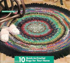 Image Is Loading S Yarn Rugs Crochet Rag Rug Patterns Instructions