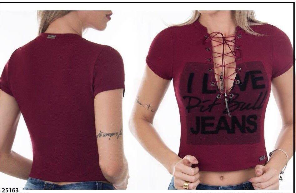 Pit Bull Jeans Top- Blouse Größe S