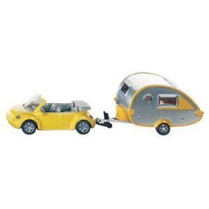 Alpha-Juguetes-DIE-CAST-VW-Beetle-con-Caravan-Siku-1629-Diecast