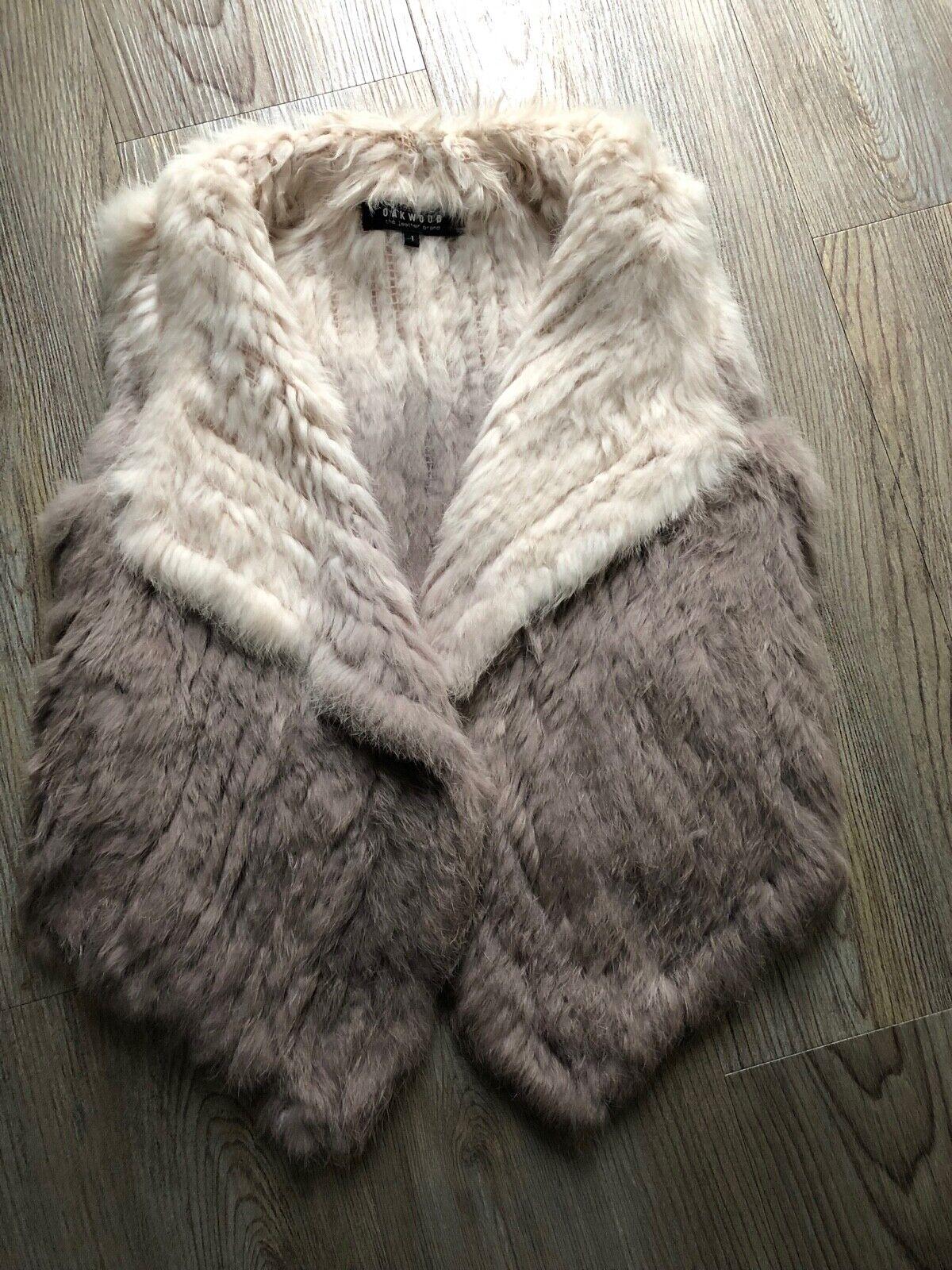 Oakwood Damen Kaninchen Pelz Fellweste Duty mit Farbverlauf aus 100% Tierhaar Ec