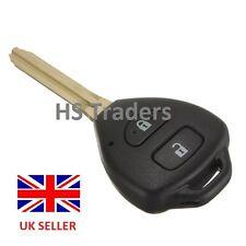 Remote Key Fob Case For Toyota Camry Corolla Prado Tarago RAV4 2 Buttons + logo