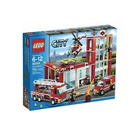60004 Fire Station Lego City Town Sealed Legos Set Truck Helicopter Nisb