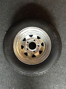 12-034-Spare-Wheel-Galvanised-New-Tyre-Rim-Suits-Boat-Box-and-Car-Trailer