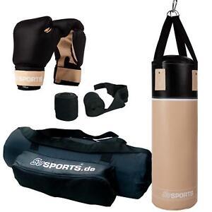ScSPORTS® Boxsack Set gefüllt 12 kg Boxhandschuhe Sandsack Boxset Halterung