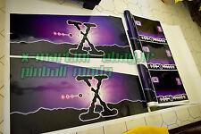 RARE Pinball Decals The X-Files 3 PC Side Art Decal, Xfiles, X-file Cabinet SEGA