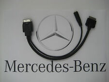2013 to 2015 Mercedes AUX iPod iPhone Adapter OEM *See chart for compatible cars