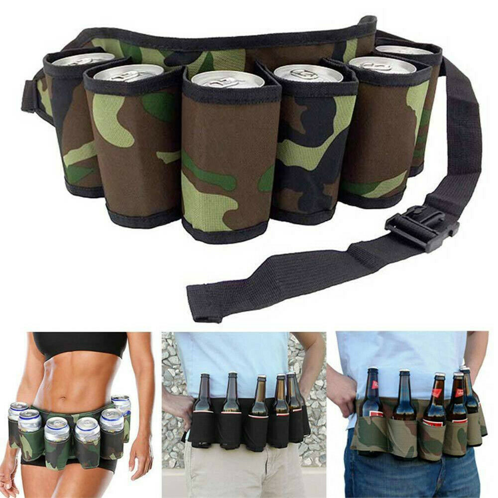 6-Pack Biergürtel Carry Beverages Getränkedosensack Holster Bag Strap Hiking