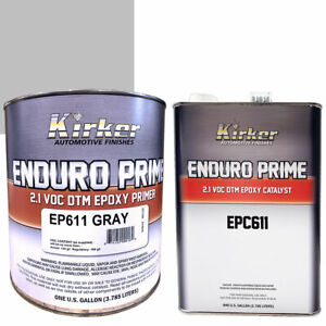 Details about Kirker Enduro Prime Epoxy Primer Gray EP611 (1 gal) &  Catalyst EPC611 (1 gal)