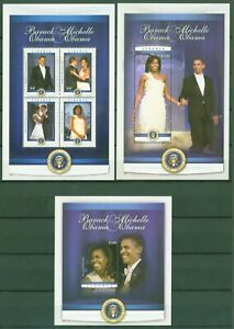 Liberia 2010-michelle + Barack Obama-investiture - 5671-74 + Bloc 577-78