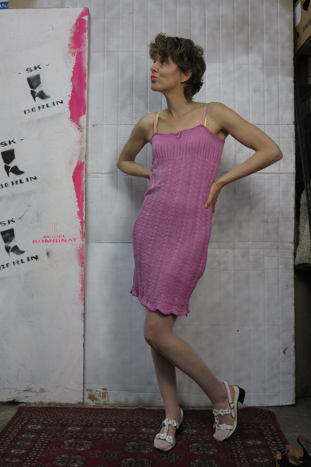 Antik Unterkleid Strickkleid Handarbeit Kleid 30s TRUEVINTAGE 40s knitted dress
