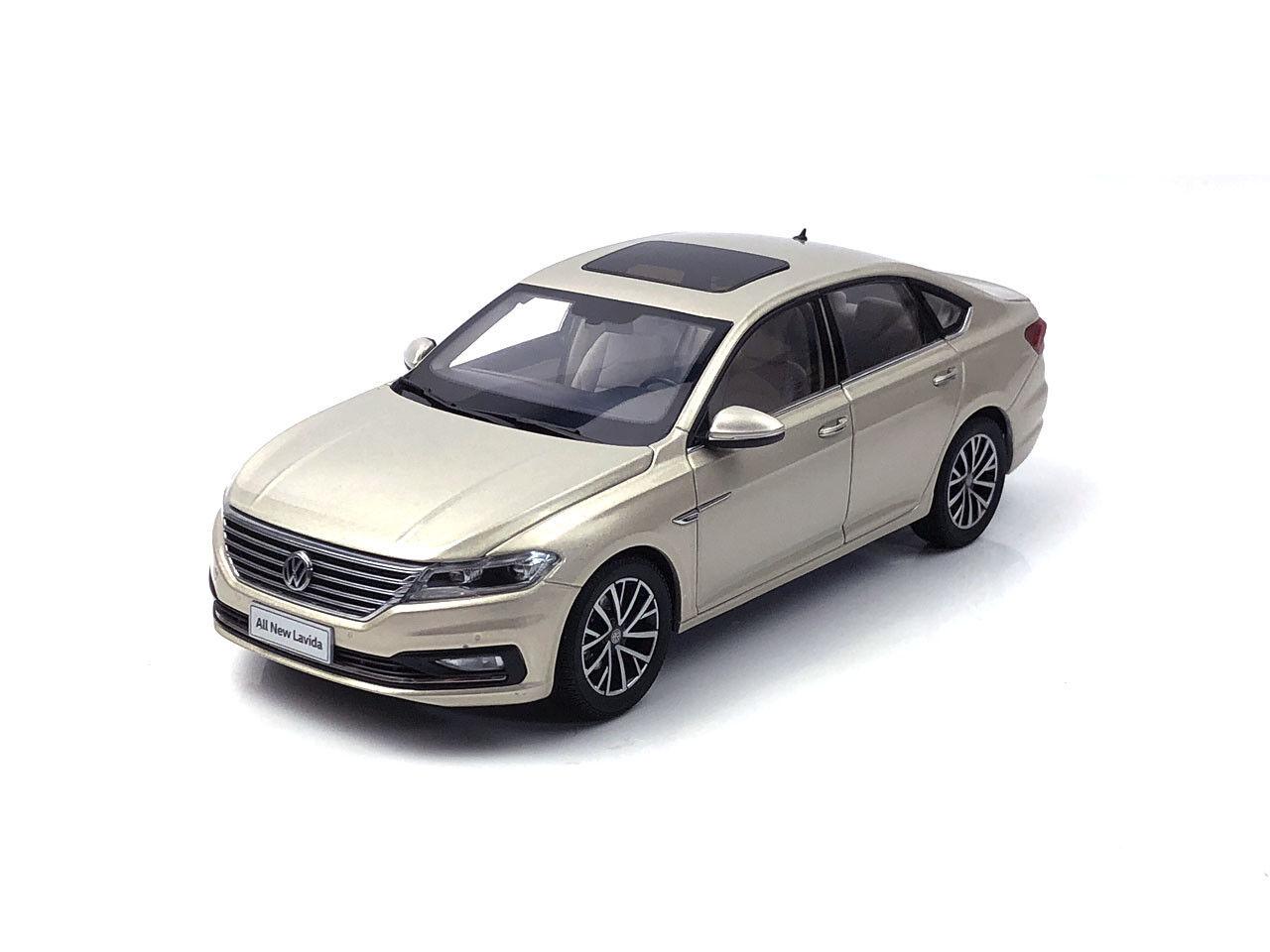1 18 Volkswagen  All nouveau Lavida 2018 or Diecast Metal Model voiture  magasin vente sortie