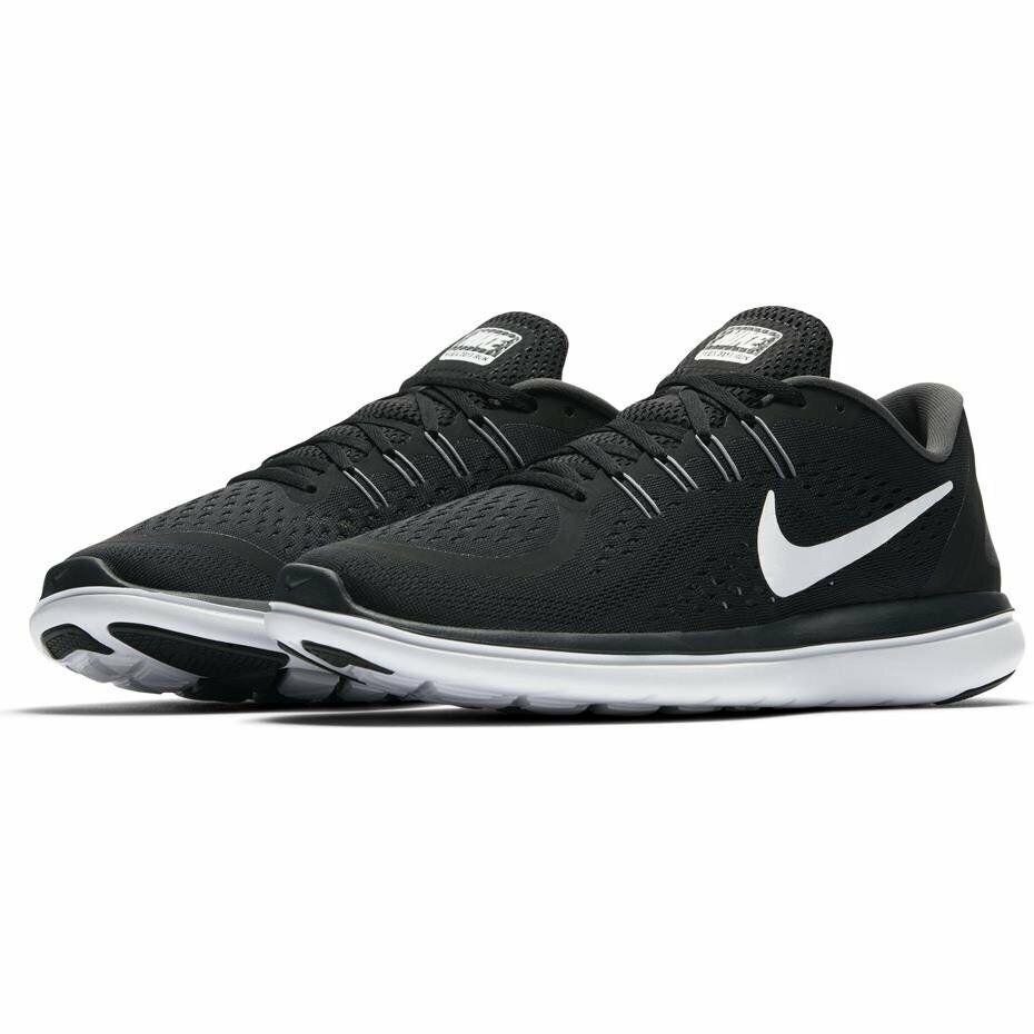 Nike Flex RN 898459-001 Size 8,5 9,5 10 11 12 13  Men's new sneakers black whit