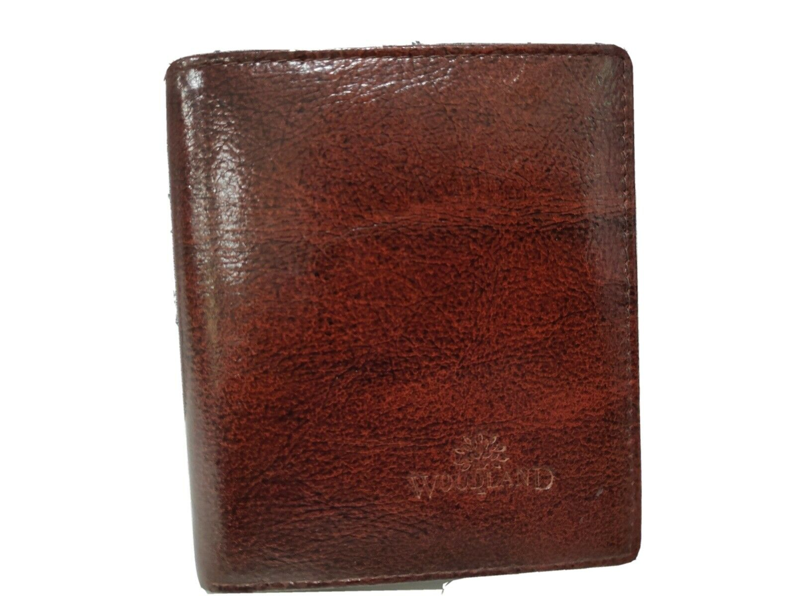 Luxurious Woodland genuine leather Mens Wallet. Shining Brown. Light. #Rare#