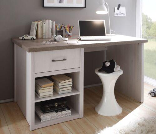 Luca Schreibtisch Kinderschreibtisch Kinderzimmer Jugendzimmer Pinie Weiß