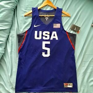 buy online d88f4 7d91a Details about KEVIN DURANT BROOKLYN NETS USA BASKETBALL NIKE OLYMPIC JERSEY