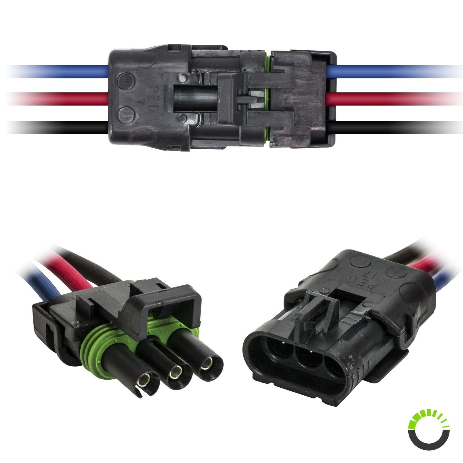 ONLINE LED STORE 2-Wire Weather Pack Connector Kit Assembled with 10 16 AWG Wires