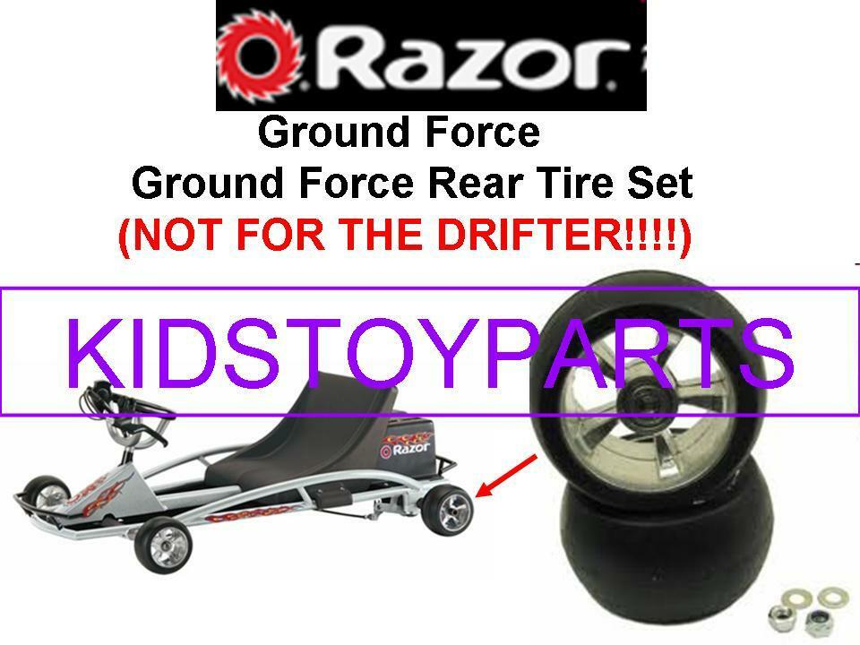 ELECTRIC RAZOR GROUND FORCE GO CART KART REAR WHEEL SET OF TIRES