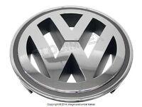 Vw Jetta Chrome Grille Emblem 'vw' Genuine + 1 Year Warranty