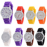 Unisex Men Watches Silicone Rubber Quartz Analog Sports Women Simple Wrist Watch