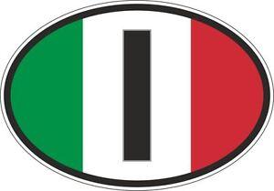 oval-sticker-flag-country-bumper-decal-car-I-italia-italy-italian
