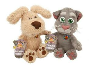 10-034-TALKING-FRIENDS-BEN-TOM-PLUSH-SOFT-TOY-SOUNDS-FROM-THE-APP-don-039-t-repeat