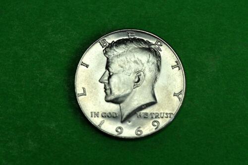 40/% Silver 1969-D Choice  BU  Mint State  Kennedy  SILVER  Half  Dollar