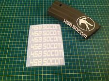 "AR Magazine ""458 SOCOM"" Sticker Pack, 6 Pack, AR 15, AK, WHITE!"