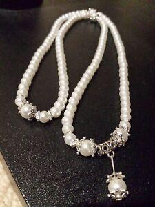 Buddhist-Meditation-Yoga-White-Crystal-108-Mala-Flex-Bracelet-Necklace-Pouch