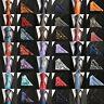 Skinny Slim Men's Tie Set Jacquard Woven Silk Necktie Floral Hanky Paisley Tie