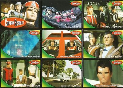 BASIC  72 CARD  SET  BY CARDS INC. CAPTAIN SCARLET BASE