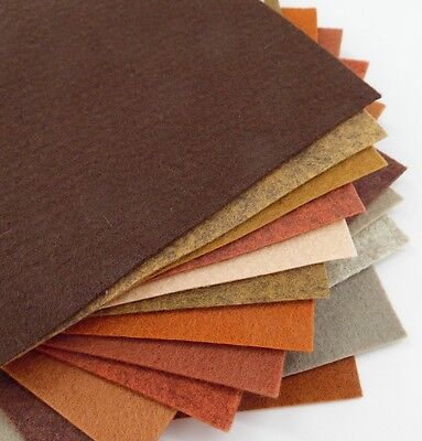 "15-9/""X12/"" Primitive Colors Collection Merino Wool blend Felt Sheets"