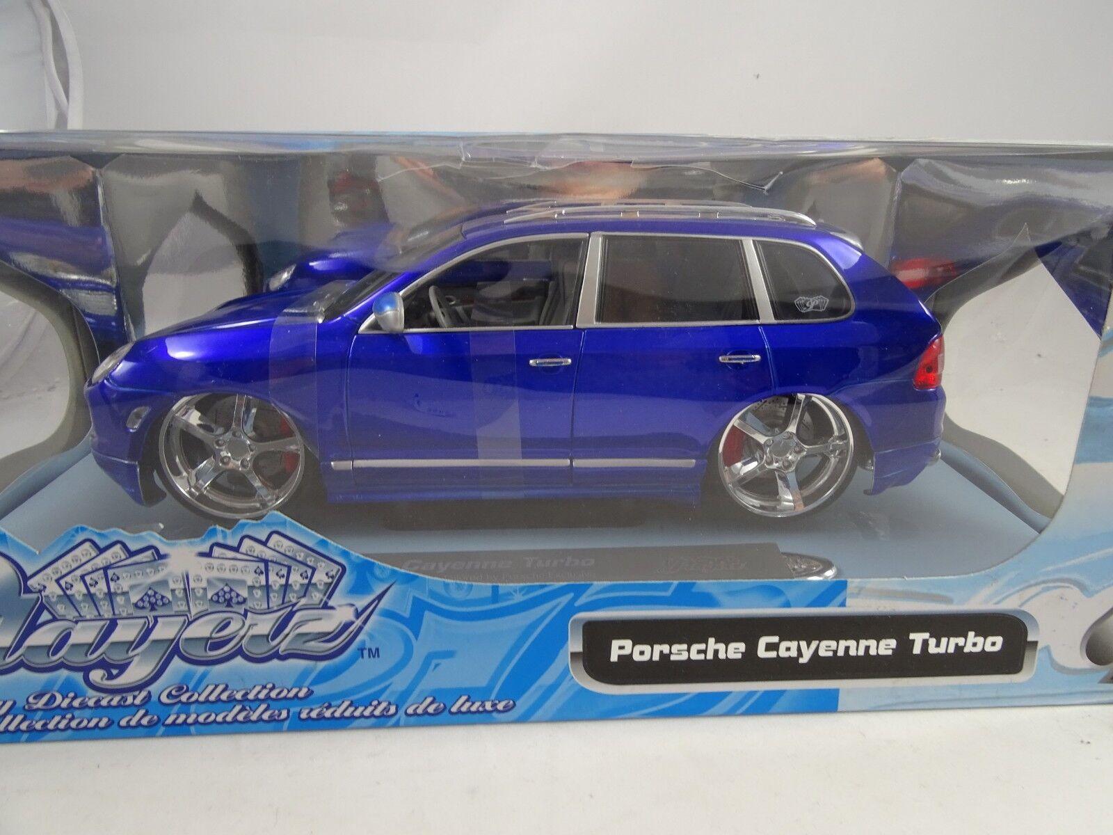 1 18 maisto Playerz porsche cayenne turbo blu-rareza nuevo en el embalaje original