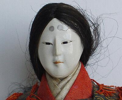 Japanese Musha Female Samurai Doll on Horse•Sword + Armour•Carved Eyes•Meiji
