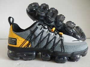 1fbbc91757 NIKE AIR VAPORMAX RUN UTILITY WOLF GREY-BLK SZ 7 MENS-WOMENS SZ 8.5 ...