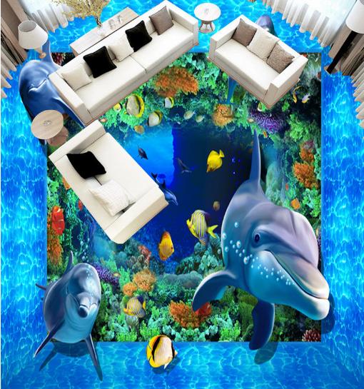 3D Ocean World 6710 Floor WallPaper Murals Wallpaper Mural Print AJ AU Lemon