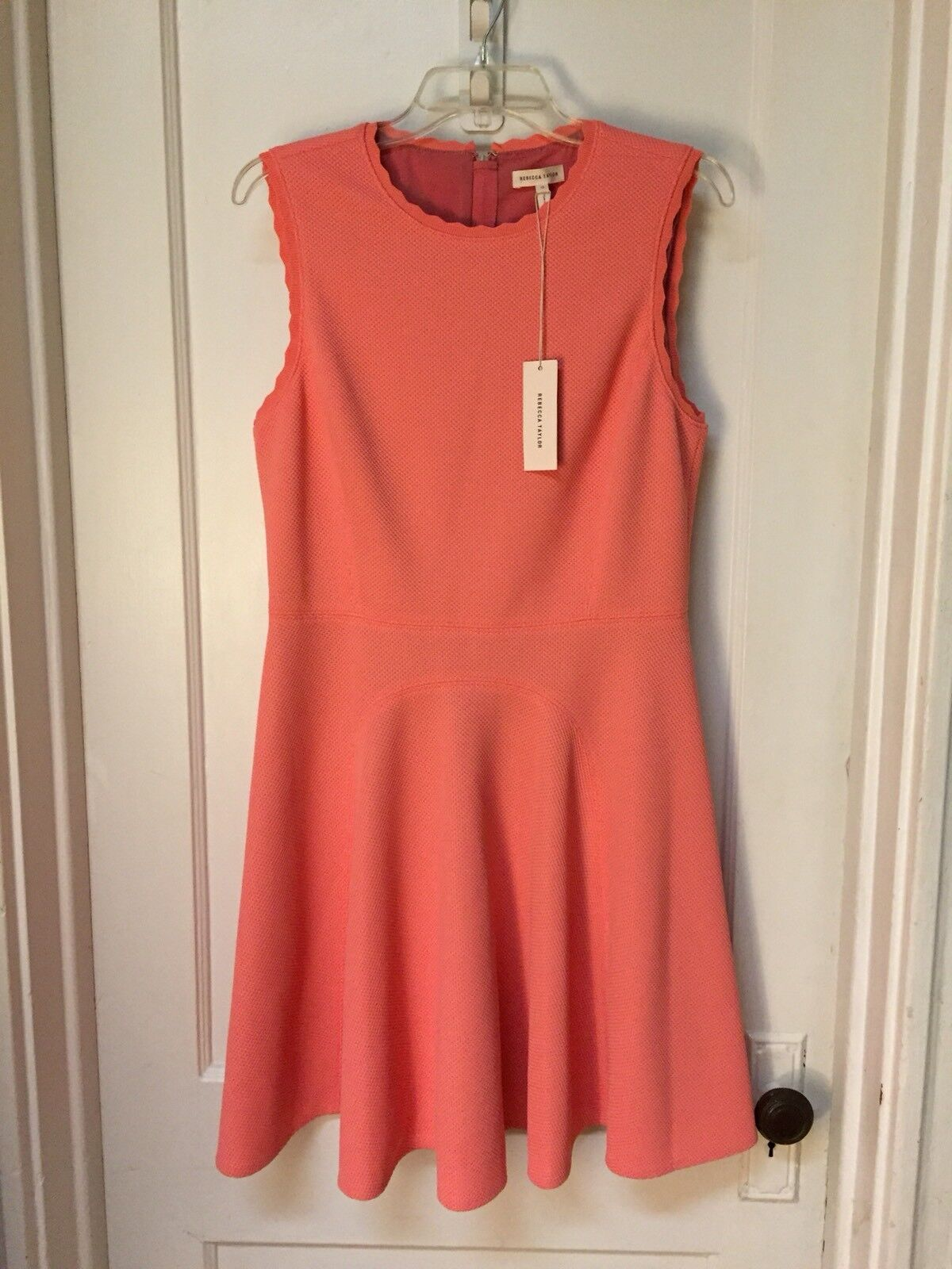 REBECCA TAYLOR SLEEVELESS FIT AND FLARE DRESS NEW Größe 12