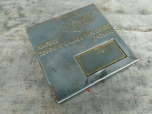 Vintage-Matrix-Gauge-Tool-Co-Coventry-Brass-Plated-Tin-with-Hinged-Lid