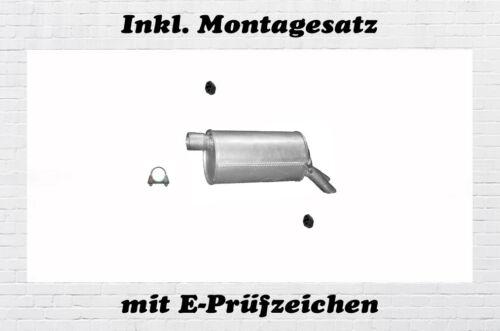 Montagesatz VW Sharan 2.8 V6 4 motion Endschalldämpfer Auspuff Endtopf