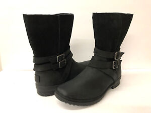 ffc88bf7646 Details about UGG LORNA WOMEN BOOTS WATERPROOF LEATHER BLACK US 11 / UK 9  /EU 42