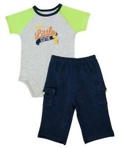 Carter-s-2-pc-Bodysuit-amp-Pull-On-Pants-Set-Mommy-s-Little-Cutie-3-months