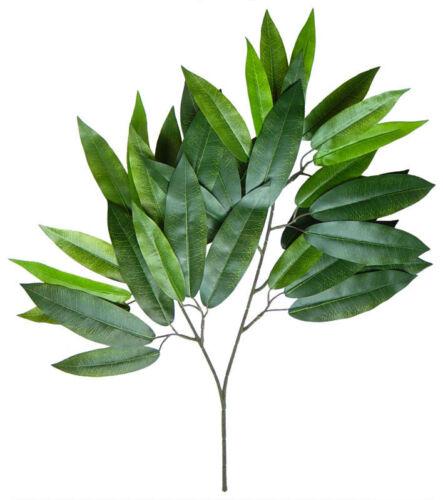 Kunstzweig künstlicher Zweig Mango 12 Stück Mangozweig 60cm 36 Blätter DA