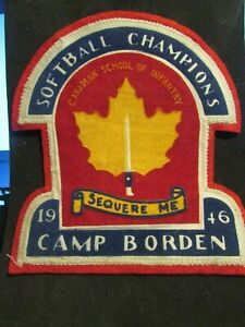 1946-Camp-Borden-Canadian-School-of-Infantry-Softball-Champions-Patch